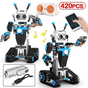 New City Technic Electric APP RC Robot Building Blocks Creator Remote Voice Control Programming Robot Bricks Toys For Children