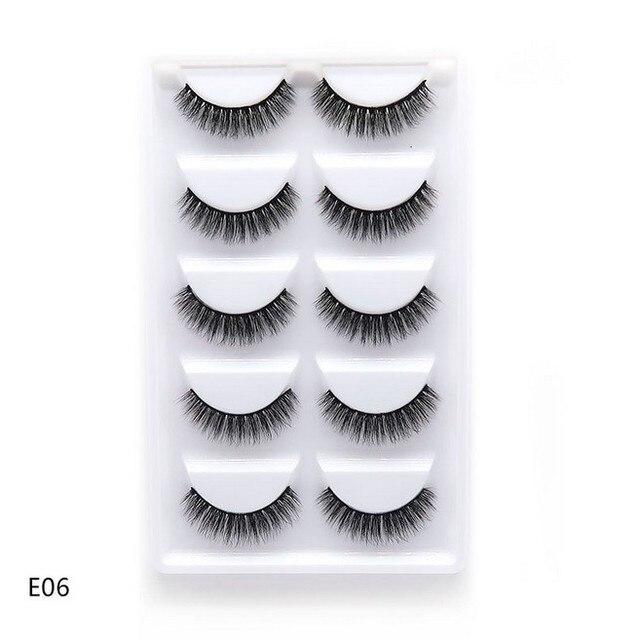 5 Pairs 3D Faux Mink Hair False Eyelashes Natural Long Eye Lashes Wispy Makeup Beauty Extension Tools 1