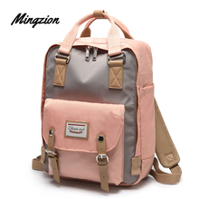 Mingzion School Waterproof Backpack Vintage Anti Theft Slim Business Travel College