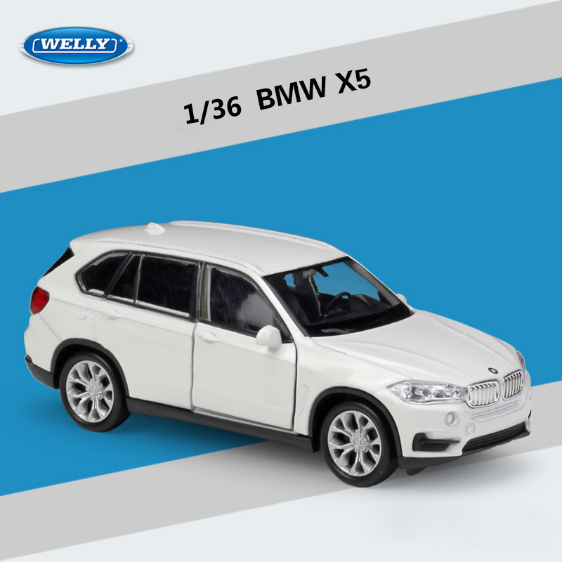 WELLY Diecast 1:36 Car High Simulator BMW X5 SUV Pull Back Car Model Car Metal Alloy Toy Car Vehicle For Kids Gift Collection