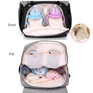 Image 5 - Borsa per pannolini per la Mamma 2020 di Modo Maternità Pannolino Sacchetti di Cura Del Bambino Con USB Mummia Multifunzionale di Viaggio di Cura Zaino per Passeggino