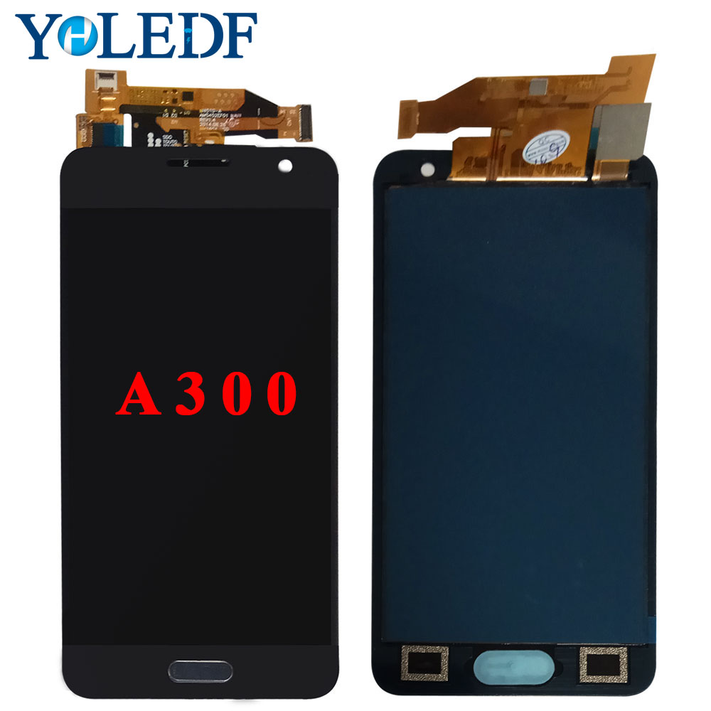 For <font><b>Samsung</b></font> Galaxy A3 2015 <font><b>A300</b></font> A3000 A300H A300F A300M A300FN <font><b>LCD</b></font> Display Touch Screen Digitizer Assembly+Home Button+Can adjus image