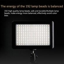 Portable 192Pcs LED Shooting Light SLR Camera Fill Light Video Camera Live Light X7JC