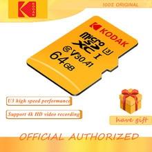 KODAK – carte Micro SD, 16 go/32 go/64 go/128 go/512 go, classe 10, U3, mémoire Flash haute vitesse, 4K