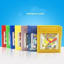 Pokemon gbc série de jogos de 16 bits cartucho de jogo de vídeo console cartão clássico jogo de cartas coletar versão colorida língua inglês