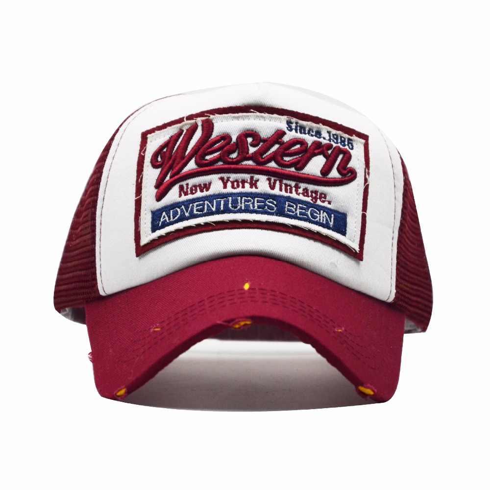 Yaz beyzbol şapkası nakış file şapka erkekler kadınlar için şapka Gorras Hombre şapkalar rahat Hip Hop kapaklar baba Casquette