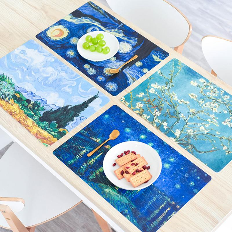 Oil Painting Mouse For Dining Table Gaming Mouse Pad Pad West Table Mat Novel Printing Mouse Pad Keyboard Desk Mat Cushion