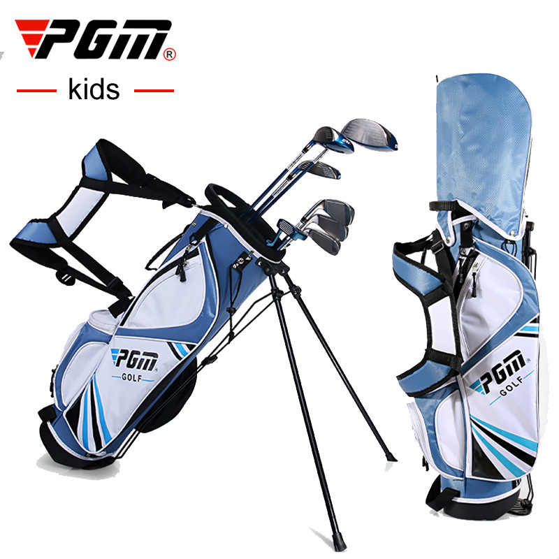 Pgm Golf Club Sets For 120 165cm Height Boy Kids Junior Golf Club Child Learning Iron Carbon Rod Putter Headcover Bracket Bag Aliexpress