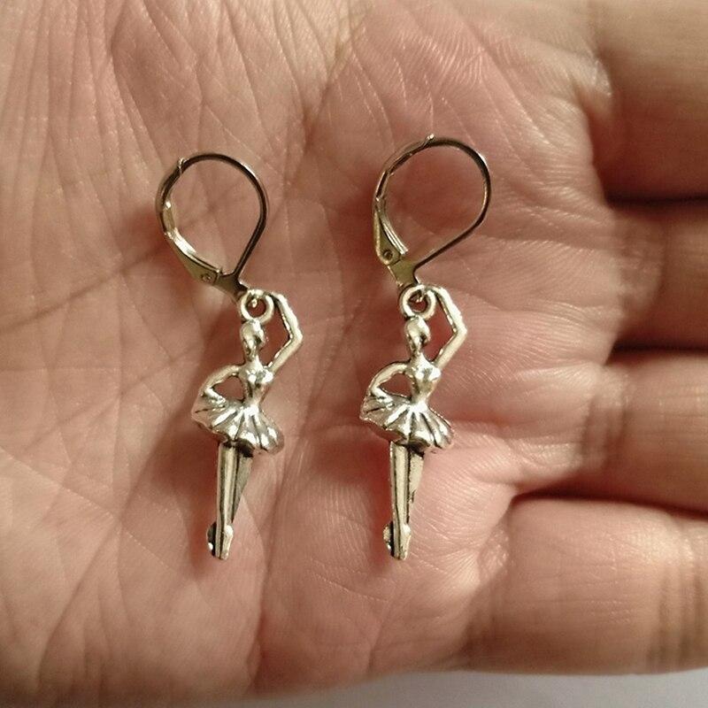 Ballerina Leverback Earrings, Ballet Leverback Earrings, Gothic Earrings, Dangle Earrings, Cool Girl Earrings