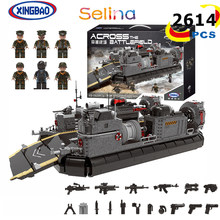 2164PCS MOC XINGBAO 06019 Military Series The Amphibious Transport Ship Building Blocks Toys Model for boys Gifts(China)