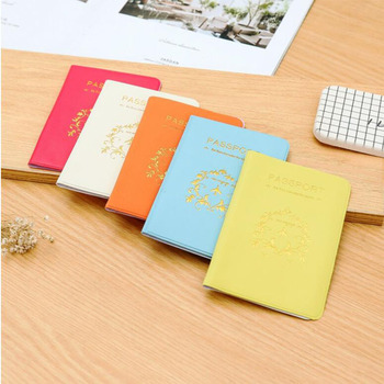 Women Men Passport Cover  Card Holder Multi-Function Cute ID Bank Card Bag PU Leather Wallet Case Travel Accessories pu card case