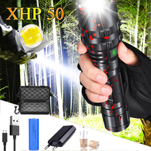 80000LM XHP50.2 Flashlight Clamp Fishing Hunting L2 Waterproof LED Torch Light Super Powerful Lanterna By 18650 26650 Battery