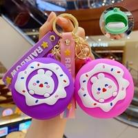 Neue Art Und Weise Nette Cartoons Donut Bunny Geldbörse Schlüsselbund Schlüssel Ring Kreative Cartoon Handy, Auto, Tasche, anhänger Spaß Keychain