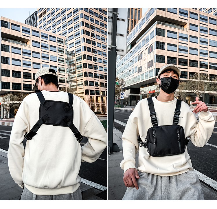 H8c51fb8a91d84daca76e4148e93de056e - Fashion Chest Rig Bag For Men Waist Bag Hip hop streetwear functional Tactical Chest Mobile Phone Bags Male Casual Fanny Pack