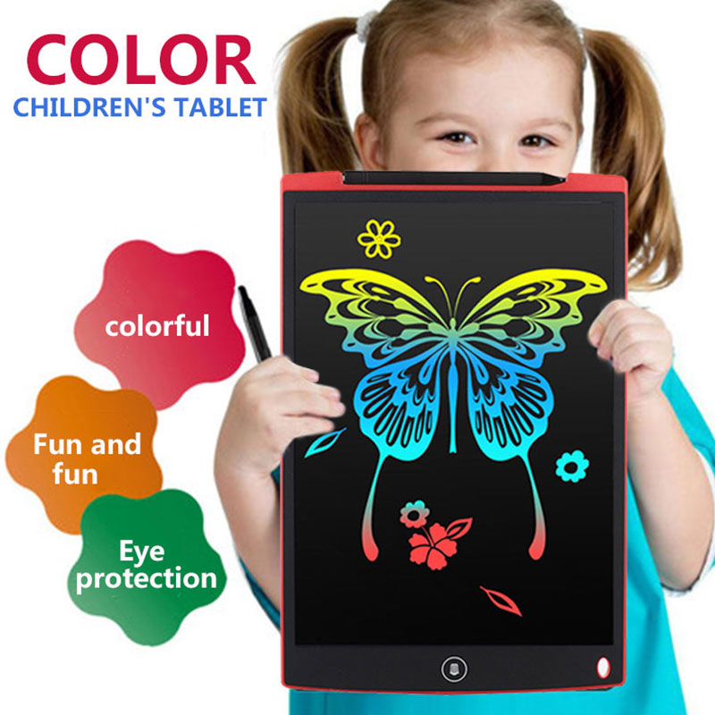 LCD Writing Tablet 8/12 inch Digital Drawing Electronic Handwriting Pad Message Graphics Board Kids Writing Board Children Gifts