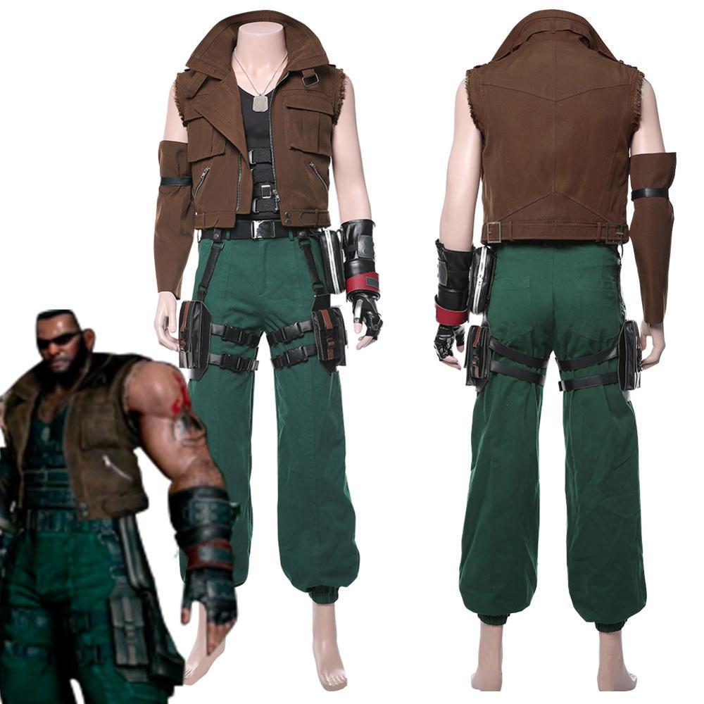 Final Fantasy VII Remake Barret Wallace Cosplay Costumes Full Set Adult Men Women Halloween Carnival Cosplay Costume Custom Size