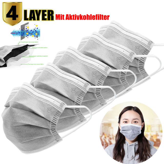 10/20/30/50pcs face Mask Disposable Non-Woven 4 layer Filter Anti-dust Mouth Nose Proof Masks Prevent Flu Mouth Masks