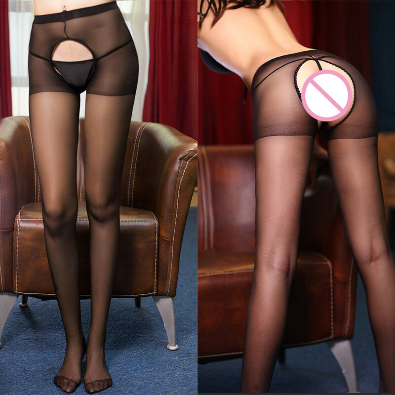 One Size Sheer Crotchless Pantyhose Hose Hosiery Women Open Crotch Back Stocking Sexy Women Tights