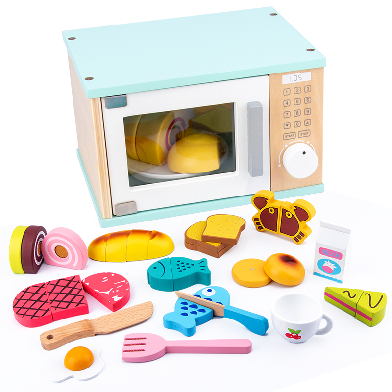 Kids Kitchen Toys Wooden Pretend Toy Cutting Food Miniature Food Girls Toys Kitchen Set Baby Early Educational Toys For Children