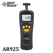 Digital Tachometer Contact Motor Tachometer RPM Meter digital Tach speedometer 0.05~19999.9m/min 0.5~19999RPM Smart Sensor AR925