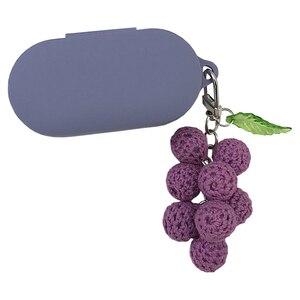 Милый силиконовый чехол с виноградом в Корейском стиле для беспроводных наушников QCY T1S/T1X, чехол для наушников с Bluetooth, переносные мягкие нау...