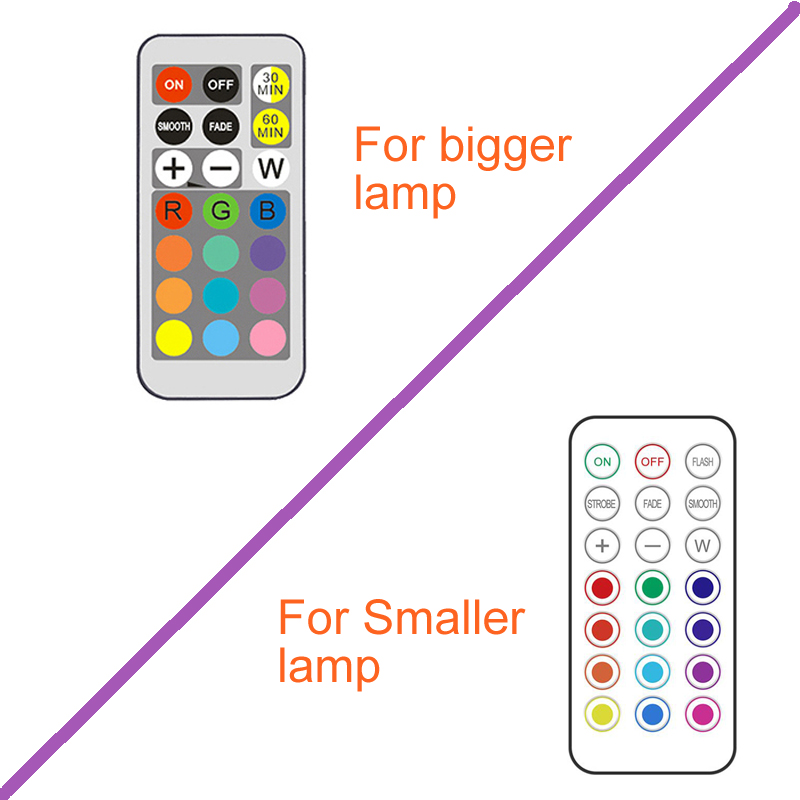 LED Cabinet Light battery RGB  Color  Puck Lights Dimmable Under Shelf Kitchen  Counter Lighting remote controller night light 5