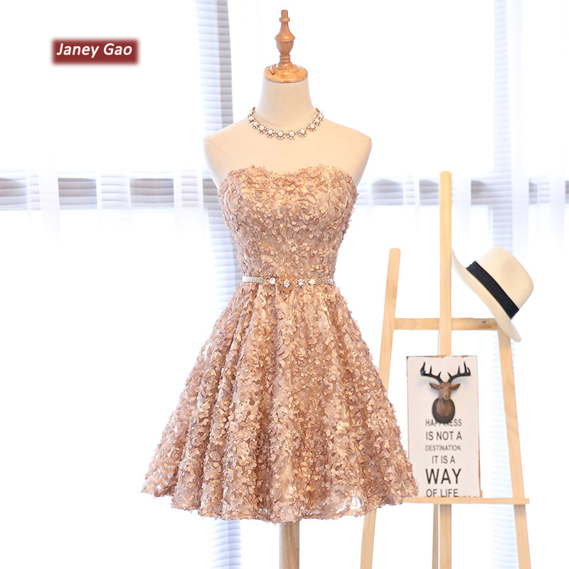 2019 New Arrival Elegant Women Short Prom Dress A-Line Sweetheart Short Prom Dresses Sexy Backless Lace-Up Knee-Length Party Dre