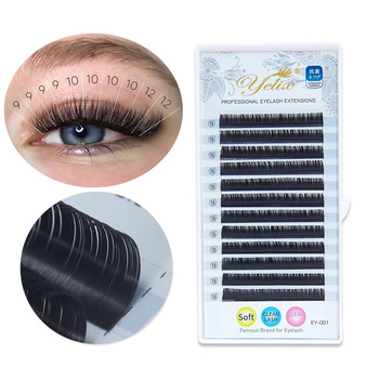 Yelix Professionals Eyelash Extension Silk Lash Extension individual Lashes Soft Russian Volume Eyelashes Natural Faux Cils aguud individual silk eyelashes natural soft lashes extension maquiagem cilios for professionals faux mink eyelash extension