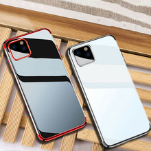 Shockproof Plating Clear TPU Phone Case For iPhone 11 Pro Max Back Cover For iphone 6 6s 8 7 plus X XR XS Max 11 Pro Max Fundas new iphone case for iphone 11 for iphone11 pro max 5 8 inches 6 1 inches 6 8 inches 6 6s 7 8 plus ix xr max x fashion back cover