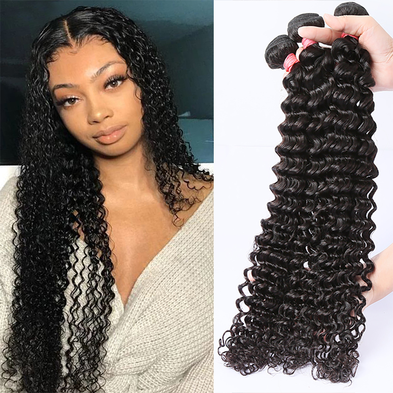 Rosabeauty 28 30 32 40 pouces vague profonde paquets 100% Extension de cheveux humains 1 3 4 paquets indien vague deau lâche cheveux bouclés paquets