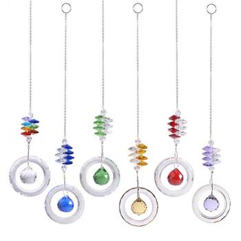 DIY wielokolorowe kryształy koraliki jasny żyrandol kryształy zawieszki wiszące Ornament Suncatcher pryzmaty akcesoria ogrodowe tanie i dobre opinie JETTING CN (pochodzenie) Crystals Pendants