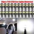 T10 194 168 W5W 5730 8 светодиодный SMD белые лампы для салона автомобиля Canbus автомобиля клиновидные боковые светильник показатель лицензии светильн...