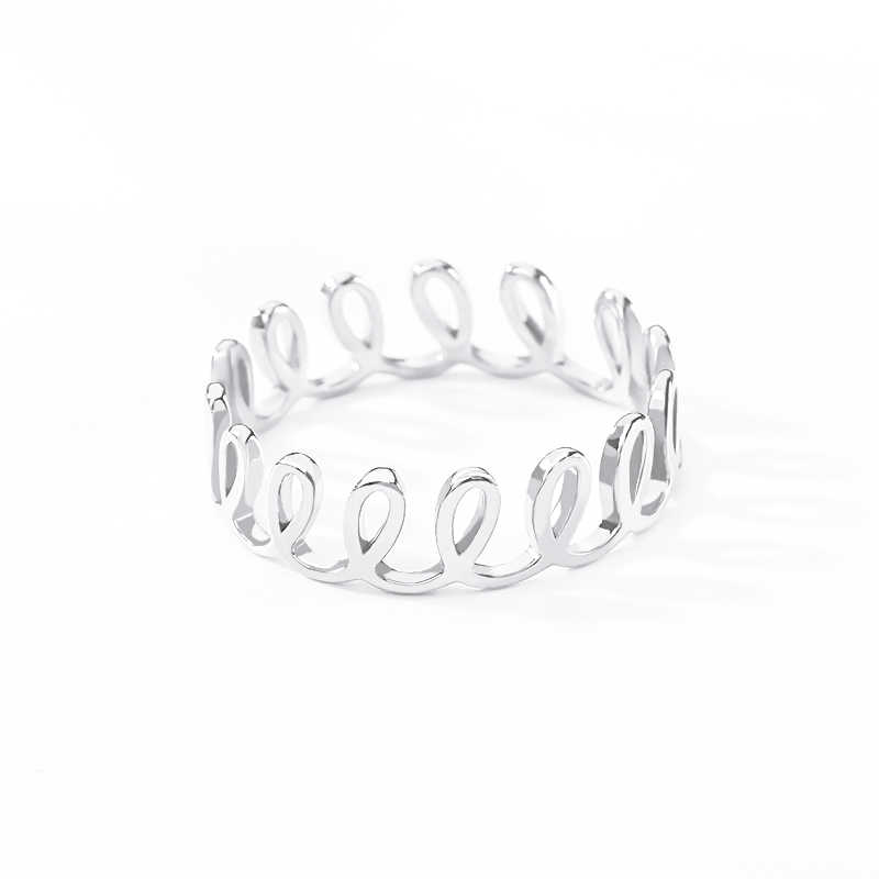 Изящные Свадебные кольца из нержавеющей стали для женщин ювелирные изделия