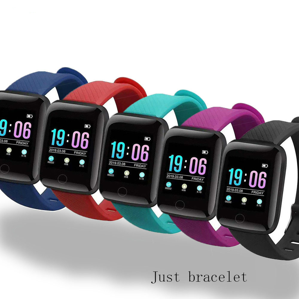D13 Smart Watch Strap 116 Plus Replacement Band Smart Wristband D18 Watch Band Silicone Replaceable Strap Watchband
