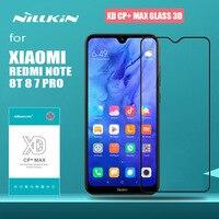 Redmi nota 8 t 8 7 pro vidro nillkin xd cp + max capa completa 3d hd vidro temperado protetor de tela para xiaomi redmi nota 8 t 8 7 pro