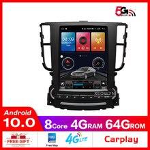 Radio Multimedia con GPS para coche, Radio con reproductor de navegador, Android 8,1, ROM de 32GB, Octa core, para Acura TL 2013 2019