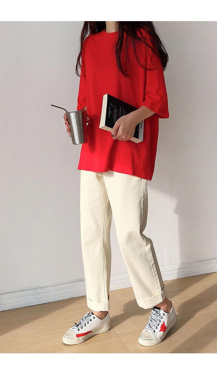 H8c536752ecf84c2e9245d2e710001749g - Summer O-Neck Short Sleeves Minimalist Loose Basic T-Shirt