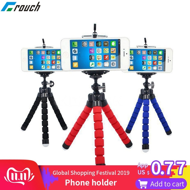 Phone holder Tripods tripod for phone Mobile camera holder Flexible Octopus Bracket For iPhone Xiaomi Samsung Clip Holder