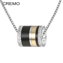 Cremo Stackable Pendants Necklaces Titanium Steel Personality Trendy Women Spinner Original Stainless Chain Charm Necklace