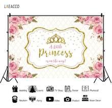 Laeacco золотая корона маленькая принцесса на дороге розовые