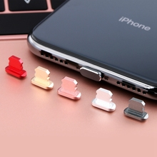 Colorful Metal Anti Dust Charger Dock Plug Stopper Cap Cover for iPhone