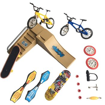 Simulation Skateboard Scene Bicycle Model Toys Fingertips Toy Cars Set Bicycle Folding Scooters Vitality Board Scooters scooter marvel spider man t58410 kick scooters foot scooters kick scooters foot scooters aprilpromo