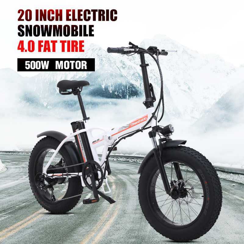 shengmi lo 48v Electrict bike Battery Folding 500w Motorcycle Portable 4.0 fat tire beach ebike electric bicycle snow bike