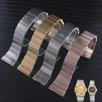 stainless steel watchband 18mm 23mm 25mm watch strap Suitable for omega watch band solid steel watch bracelet