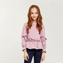 CupofSweet Mädchen Party Tunika Tops Kinder Kleidung Herbst Mode Lange Ärmeln Rüschen Tuniken Casual Kinder Top Shirts Für Mädchen