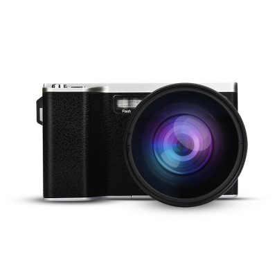 """4k 24 megapíxeles telefoto HD hogar fotografía cámara Digital CMOS Sensor 8x Zoom JPEG/AVI 3,5 """"Pantalla SLR cámara con Flash"""