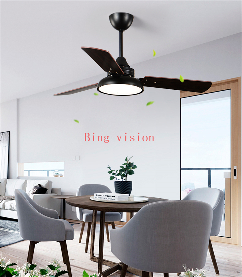 Nordic Industrial Wind Ceiling Fans 220V Wooden Ceiling Fans With Lights 42 Inch Blades Cooling Fans Remote Dimming Fan Lamp