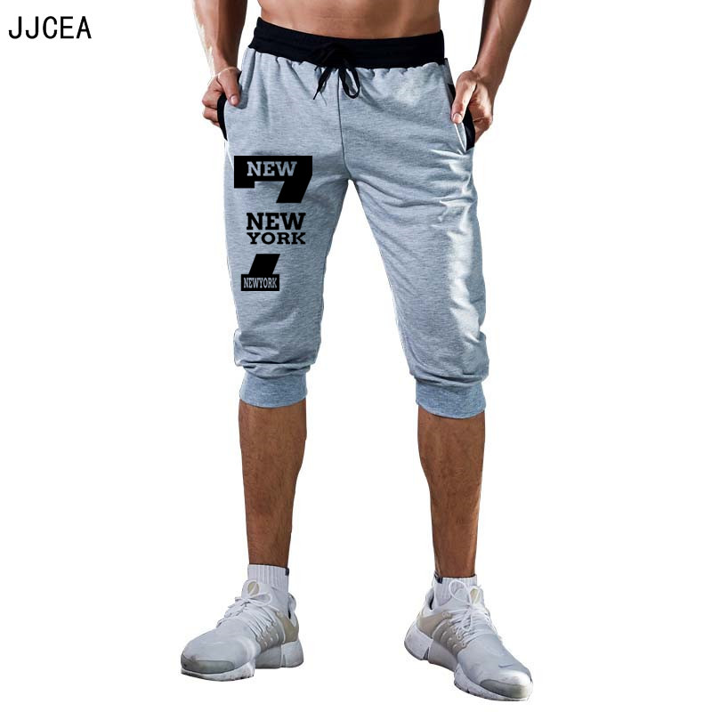 Summer Sports Men's Sportswear Pants Knee Length 3/4 Clothing Sport Joggers Workout Gym Fitness Suits Bermuda Shorts