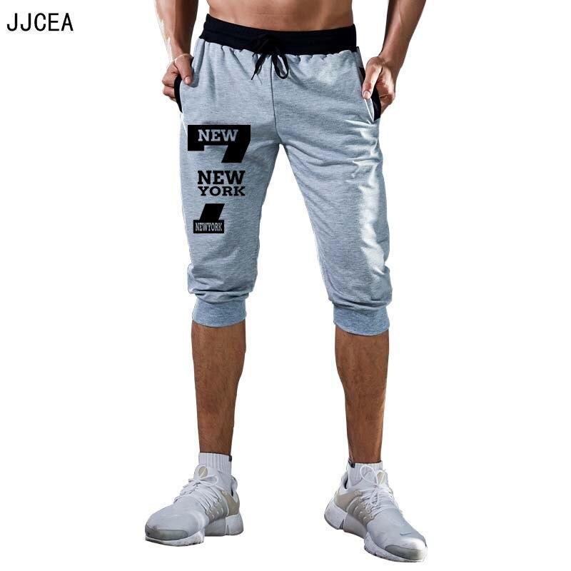 Hombre 3//4 Pantalones Cortos De Deporte Gimnasio Jogging Shorts por Debajo De La Rodilla Transpirables Pantalones De Algod/ón