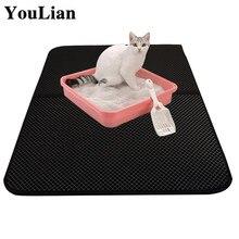 Piège à litière pour animaux de compagnie, tapis pliable et étanche, Double couche, tapis de nettoyage pour maison, produits de toilette pour chiens et chats, accessoires Cama Chat a